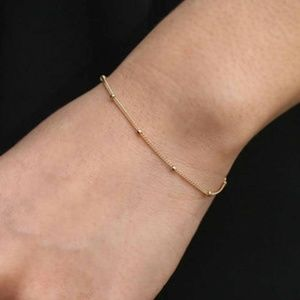 Jewelry - Gold color - Minimalist Dainty Bracelet w/ Beads